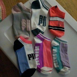 New Ultimate Pink Vs socks, 6pairs nylon